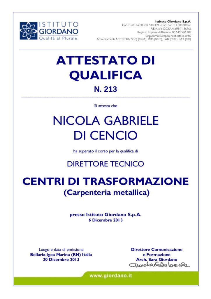 certifications tecnostrutture