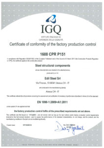 1090-2: CE certification produced for the execution of steel structures (English version)