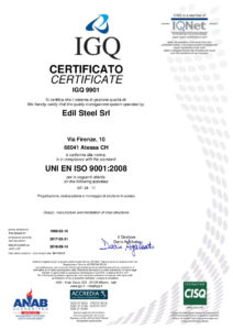 IGQ: quality management system in compliance with UNI EN ISO 9001:2008