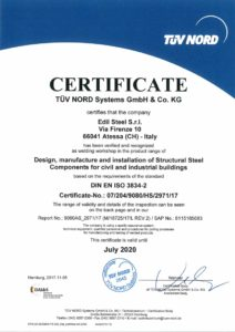 TÜV NORD: welding processes management system in compliance with UNI EN ISO 3834-2